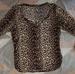 Cheetah Half Sleeve Top